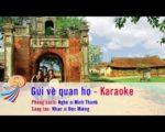 Gửi về quan họ – Karaoke tách lời